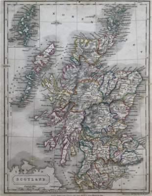 Scotland Antique Map 1826