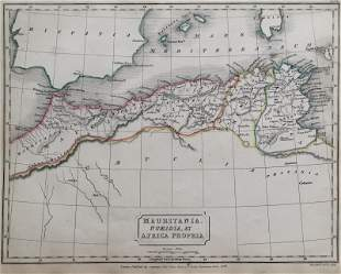 Mauritania, Numidia Et Africa Propria Antique Map 1826