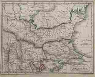 MACEDONIA, MAECIA, THRACIA ET DACIA Antique Map