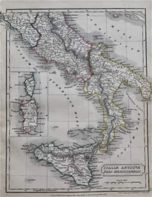 Antique Map ITALIA ANTIQUA PARS MERIDIONALIS
