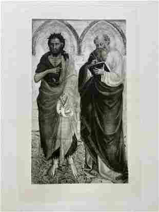 PRINT AFTER BICCI DI LORENZO ST JOHN THE BAPTIST