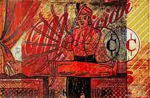 PETER MARS SIGNED ORIGINAL SILKSCREEN MAGICIAN POP ART