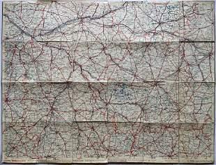 LARGE ANTIQUE MAP FRANCE CENTRAL REGION