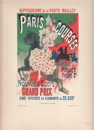 FRENCH ART NOUVEAU POSTER CA 1886