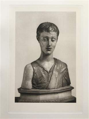 LARGE ETCHING AFTER DONATELLO BUST St JOHN THE BAPTIST