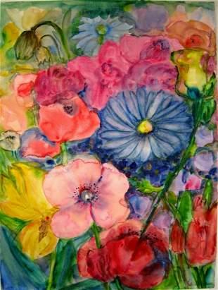 WATERCOLOR PAINTING FLOWERS