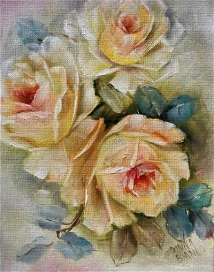 OIL PAINTING ON CANVAS FLOWERS
