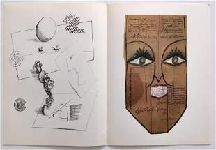 SAUL STEINBERG DERRIERE LE MIROIR LITHOGRAPH 1966