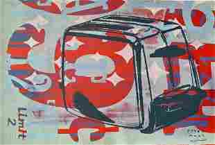 PETER MARS SIGNED SILKSCREEN TOASTER POP ART