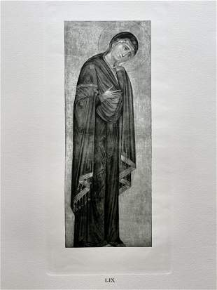 PRINT AFTER MASTER OF THE FRANCISCAN CRUCIFIX MADONNA