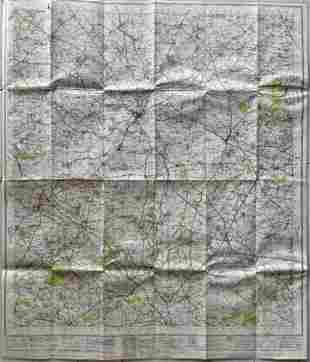 LARGE VINTAGE MAP OF BANBURY ENGLAND