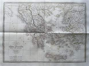 LAPIE ORIGINAL MAP ANCIENT GREECE 1832