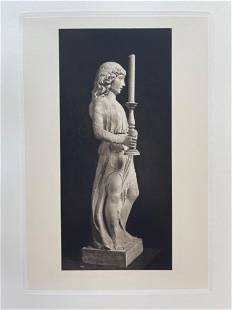 ETCHING AFTER PIETRO LOMBARDI ANGEL HOLDING CANDLESTICK