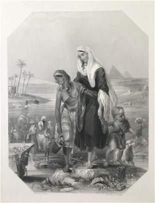 ANTIQUE VICTORIAN ENGRAVING EGYPT