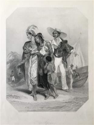ANTIQUE VICTORIAN ENGRAVING AFRICA