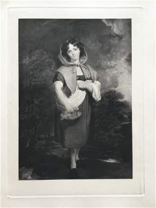 ETCHING SIR THOMAS LAWRENCE LITTLE RED RIDING HOOD