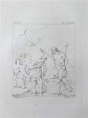 ANTIQUE ITALIAN RELIGIOUS JESUS BAPTISM