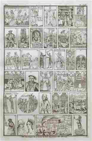 PRINT OF MEDIEVAL PAINTINGS ECOLES ULTRAMONTAINES