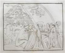 ANTIQUE ENGRAVING PAOLO UCCELLO PAINTING