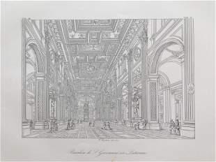 ARCHITECTURAL PRINT BASILICA S GIOVANNI IN LATERANO