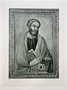 LARGE ETCHING AFTER LIPPO VANNI SAINT PETER