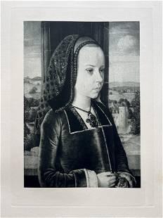 ETCHING AFTER LE MAITRE DE MOULINS SUZANNE DE BOURBON
