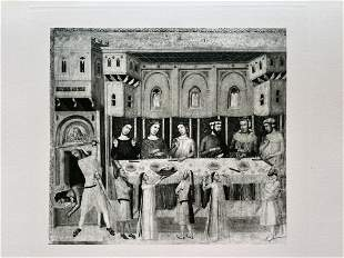 ETCHING AFTR GIOVANNI BARONZIO DA RIMINI FEAST OF HEROD