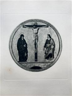 LARGE ETCHING AFTER FRANCESCO COSSA CRUCIFIXION