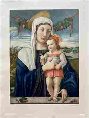 LARGE ETCHING VIRGIN AND CHILD
