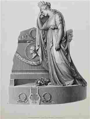 ENGRAVING AFTER CANOVA MONUMENT OF VITTORIO ALFIERI