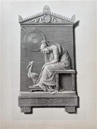 ENGRAVING AFTER CANOVA MONUMENT OF PRINCE OF ORANGE