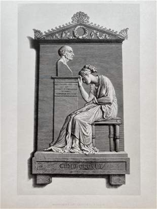ENGRAVING AFTER CANOVA MONUMENT OF GIOVANNI FALIER