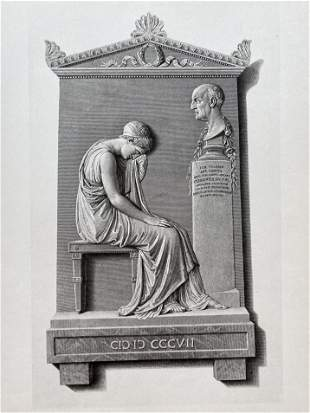 ENGRAVING AFTER CANOVA MONUMENT OF GIOVANNI VOLPATO