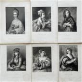 LOT OF 6 ENGRAVINGS VICTORIAN WOMEN