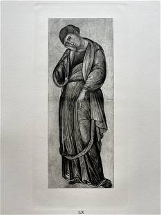 PRINT AFTER MASTER OF THE FRANCISCAN CRUCIFIX ST JOHN