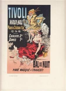 FRENCH ART NOUVEAU POSTER CA 1886 TIVOLI