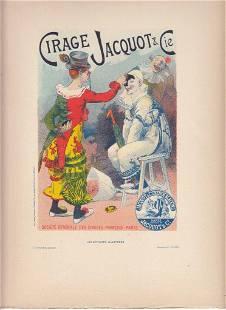 FRENCH ART NOUVEAU POSTER CA 1886 CIRAGE JACQUOT