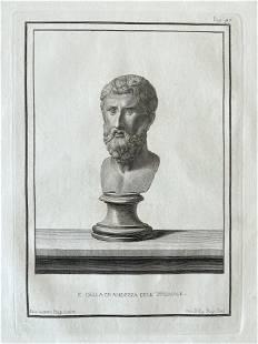 18th C ROMAN BUST ENGRAVING ETCHING