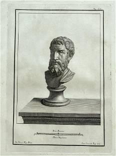 18th C ROMAN BUST ENGRAVING