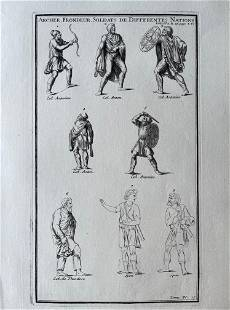 ANTIQUE ENGRAVING ROMAN SOLDIERS