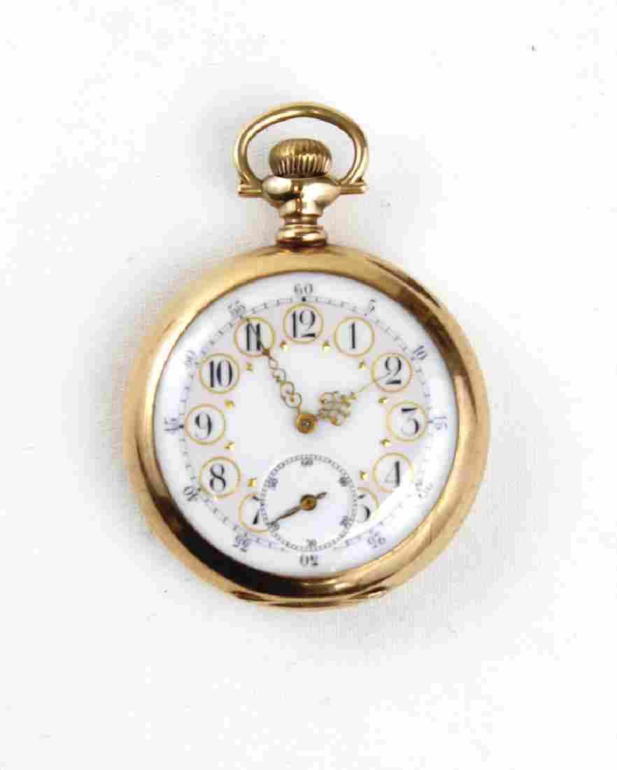 14K Gold Men's Elgin National Watch CompanyPocket Watch