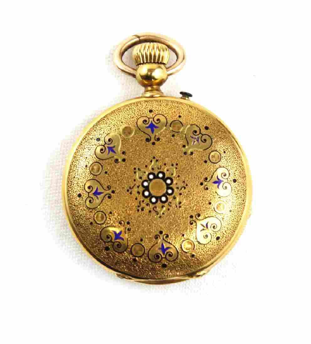 18K Gold Creitling Laederich Pocket Watch