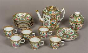 A 19th century Canton famille rose tea set Typically