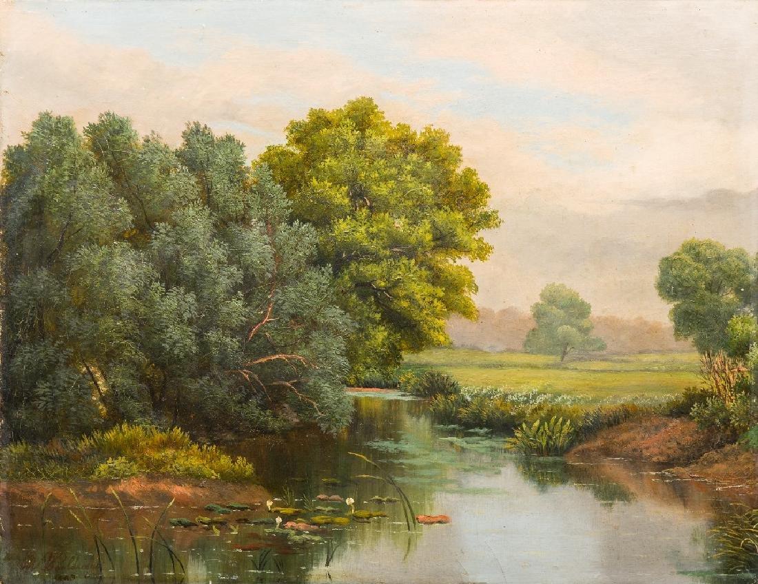 WOOLDRIDGE (19th century) British River Landscape Oil