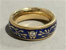 An 18 ct gold and cold enamelled Wellendorff spinning