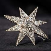 A Victorian unmarked white gold or platinum diamond set