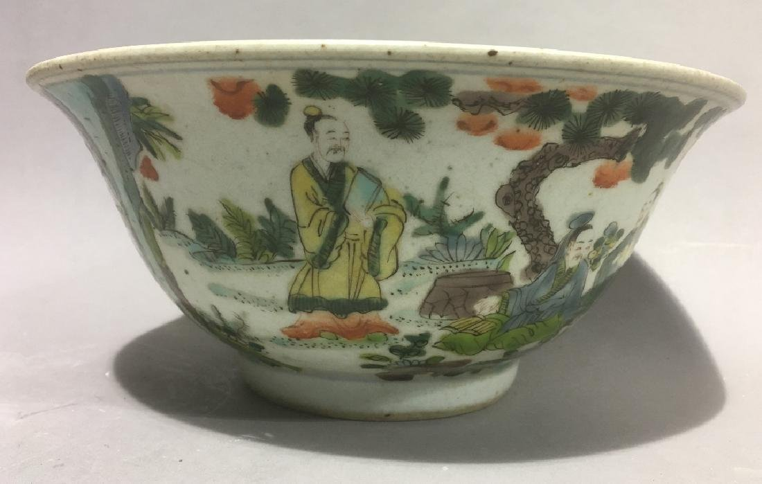 A Chinese famille verte porcelain bowl Decorated in the - 3