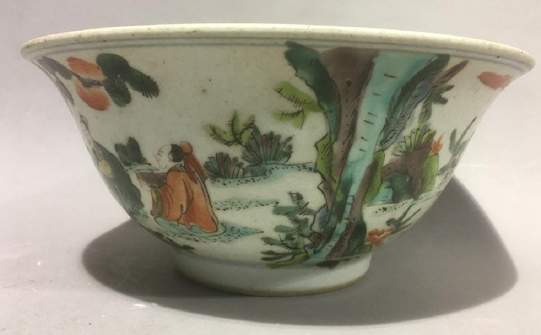 A Chinese famille verte porcelain bowl Decorated in the - 4