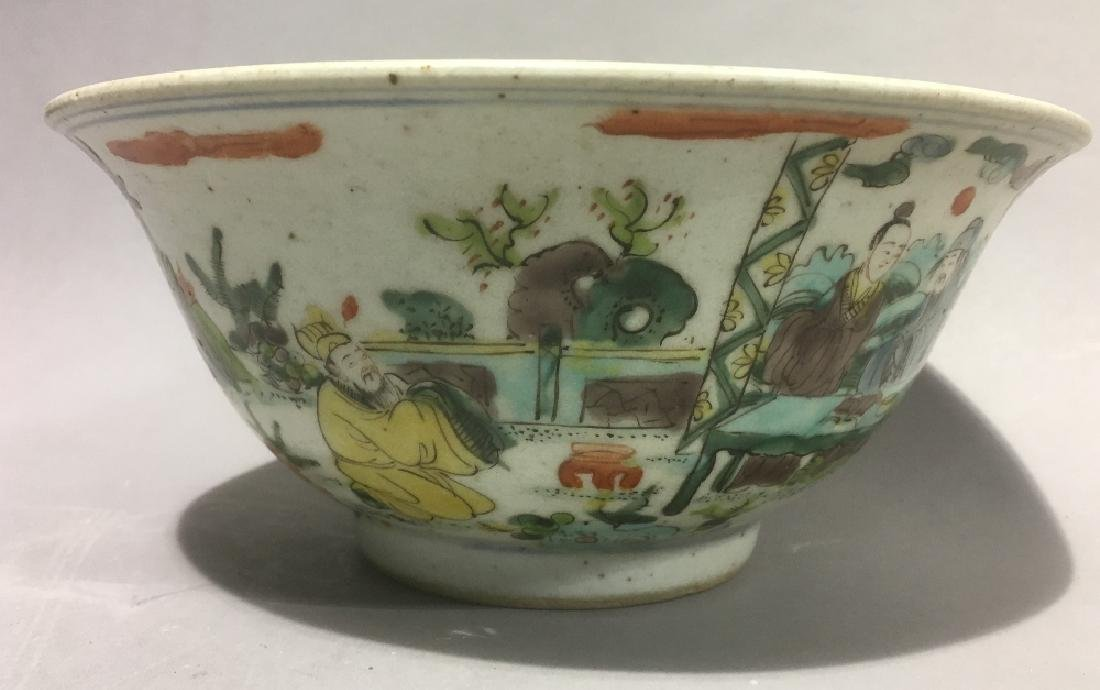 A Chinese famille verte porcelain bowl Decorated in the - 5