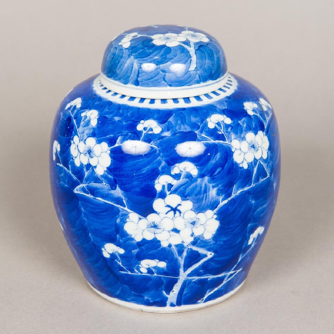A 19th century Chinese blue and white ginger jar and